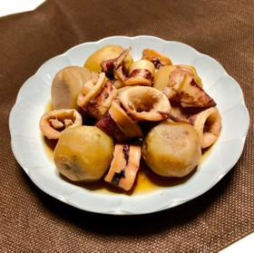 里芋とやりいかの旨煮(煮物)♡お袋の味