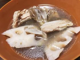 台湾で教わった鶏肉とれんこんのスープ
