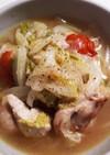 白菜と鶏もも肉のコンソメ煮