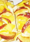 柿と姫林檎のチーズトーストカボスのせ