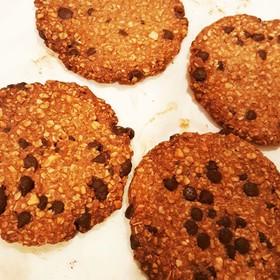 オートミールチョコチップナッツクッキー
