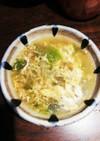 レタスと溶き卵のシャンタン和風スープ