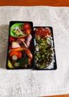 お肉無し、野菜と魚のお弁当です。