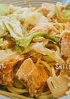 味噌風味♪鮭とキャベツのクリームパスタ☆