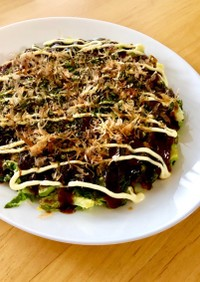 白菜の外葉をムダなく美味しく♫お好み焼き