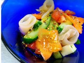 薩摩鶏のハムと野菜のマリネ
