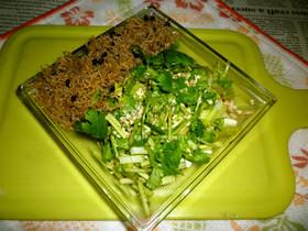 ちりめん山椒+パクチーサラダのタパス