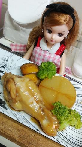 リカちゃん♡鶏の甘酢煮ꕤ*.゚