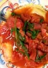 ラビオリとトマトソース