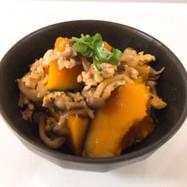 かぼちゃと鶏ひき肉の煮付け