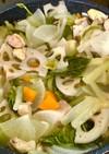 超簡単根菜たっぷり野菜スープ