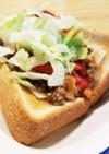 挽肉ストックで簡単朝食⭐タコス風トースト