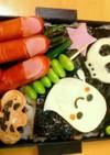 ハロウィンお弁当☆パンプキン型卵焼き