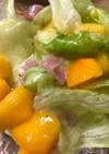 柿と生ハムのレタスサラダ