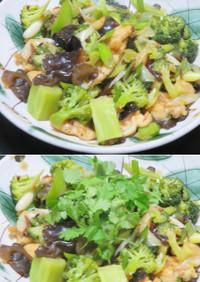 鶏肉とブロッコリーのたっぷりネギ中華炒め