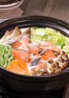 焼き鮭豆乳鍋&みそカルボナーラ風ラーメン