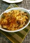 牛巻きとキノコのカレーチーズ焼き