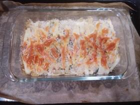 パン粉焼きカニカマグラタン(簡単)
