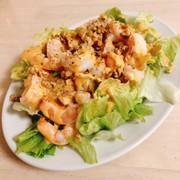 海老とクルミのスパイシーサラダの写真