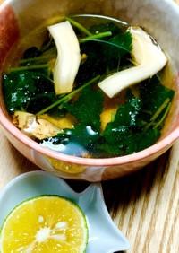 麺つゆで作る☆松茸の土瓶蒸し風スープ♪