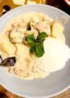 簡単夜食、鶏豚肉のクリームシチューライス