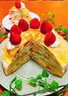 フルーツたっぷり♪ミルクレープケーキ♡♡
