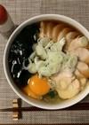 【発毛レシピ】白滝月見ワカメ蕎麦