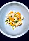 かぶ・柿・クリチの簡単サラダ