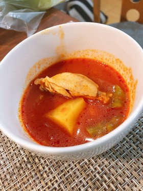 栄養たっぷり!鶏肉のトマトスープ