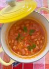 白インゲン豆とソーセージの煮込み