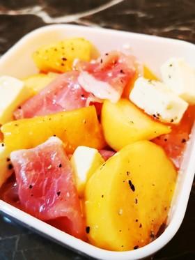 ♥️旬♥️柿とクリチの生ハムサラダ