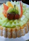 フルーツとカスタードのケーキ