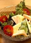 柿と林檎とマコモダケのサラダ