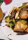鯖とブロッコリーのハリッサ炒め