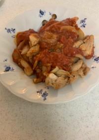 ルクエで鶏肉ときのこのトマト煮