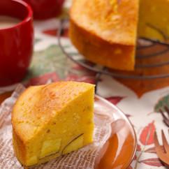 しっとりもちもち♡さつまいもの蒸しケーキ