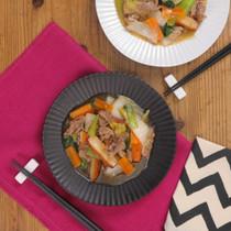 白菜と豚肉の中華あんかけ炒め