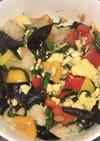海老と卵とニラのラー油炒め