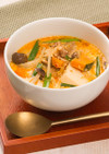 キムチと生クリームのまろやかスープ