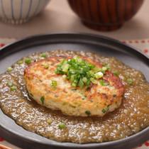 ふわふわ♡豆腐ハンバーグおろし和風ソース