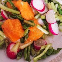柿とカブのシンプルサラダ