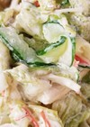 レタスとかにかまのコールスロー風サラダ