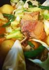 簡単美味・豚肉とジャガイモの旨辛味噌鍋