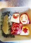 りんごの飾り切り☆ジブリキャラ