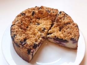 ブルーベリーのクランブルチーズケーキ