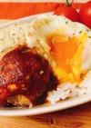 おからパウダーと豆腐のヘルシーロコモコ丼