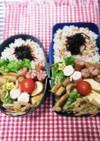 高校男子弁当&パパ弁♡豚ロース10/29