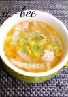 白菜とベーコンの和風コンソメバタースープ