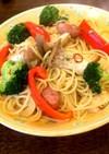 きのこと彩り野菜のペペロンチーノ♪