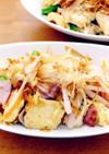 もやしと新生姜と豆腐のチャンプルー